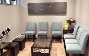 Our office lobby at Cedar Ridge Dental